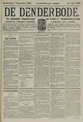 De Denderbode 1911-09-07