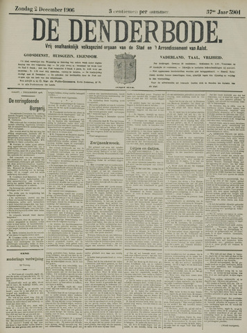 De Denderbode 1906-12-02