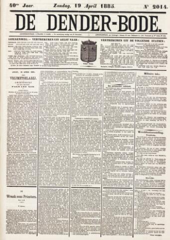 De Denderbode 1885-04-19
