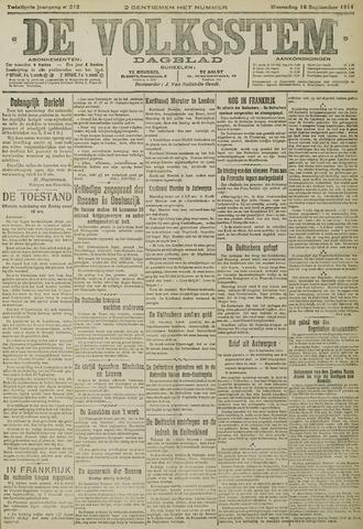 De Volksstem 1914-09-16