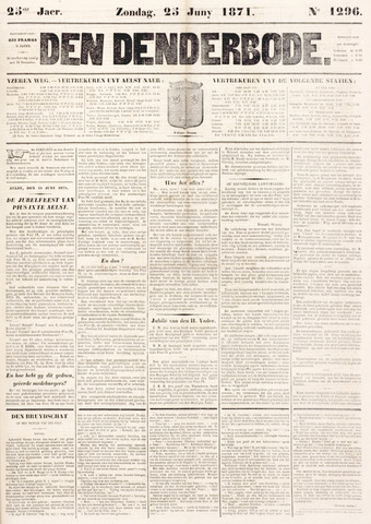 De Denderbode 1871-06-25