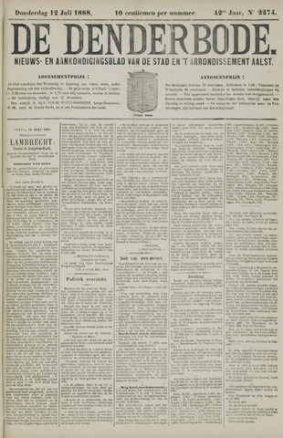 De Denderbode 1888-07-12