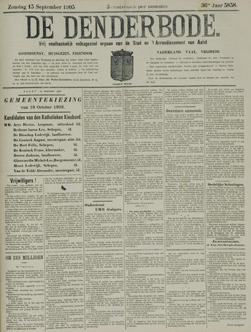 De Denderbode 1903-09-13