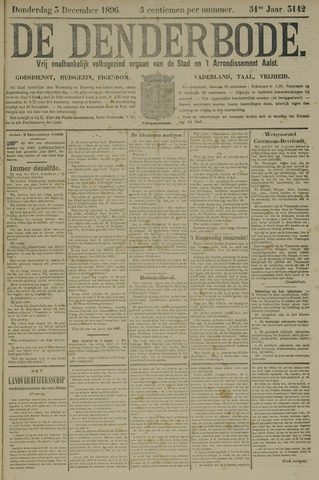 De Denderbode 1896-12-03
