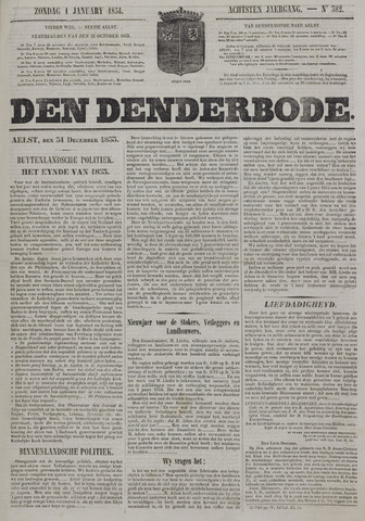 De Denderbode 1854-01-01