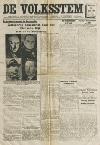 De Volksstem 1938-03-16