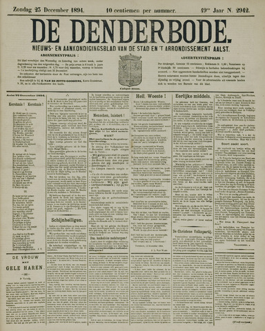 De Denderbode 1894-12-23