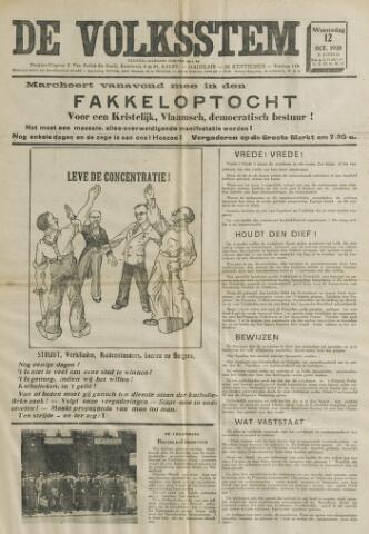 De Volksstem 1938-10-12