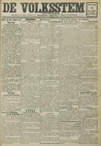 De Volksstem 1931-12-09