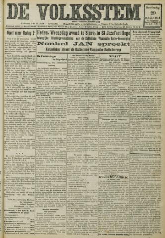 De Volksstem 1931-10-29