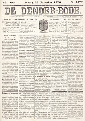 De Denderbode 1876-11-26