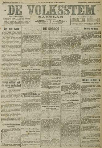De Volksstem 1914-11-04
