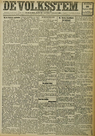 De Volksstem 1923-09-26