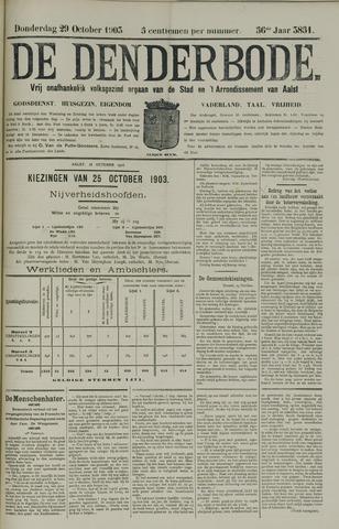 De Denderbode 1903-10-29