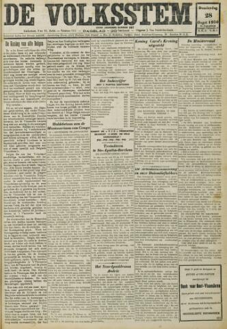 De Volksstem 1930-08-28