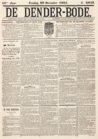 De Denderbode 1885-12-20