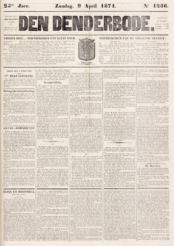 De Denderbode 1871-04-09