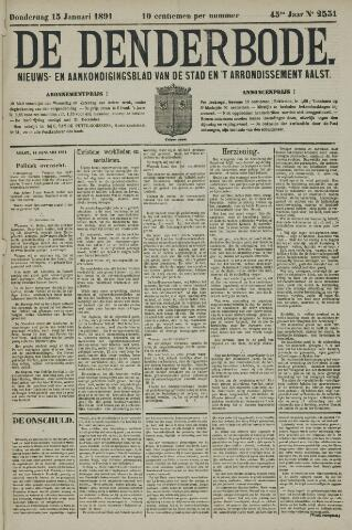 De Denderbode 1891-01-15