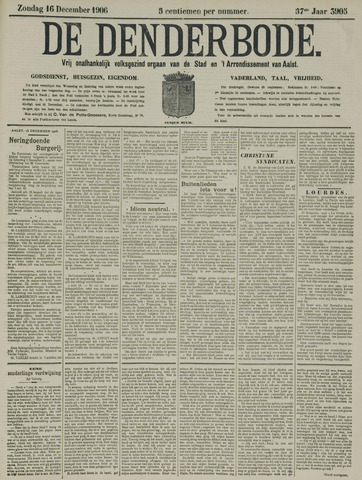 De Denderbode 1906-12-16