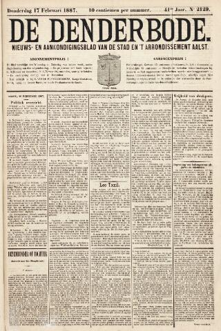 De Denderbode 1887-02-17