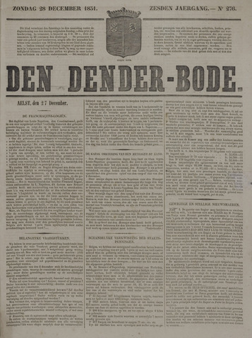 De Denderbode 1851-12-28