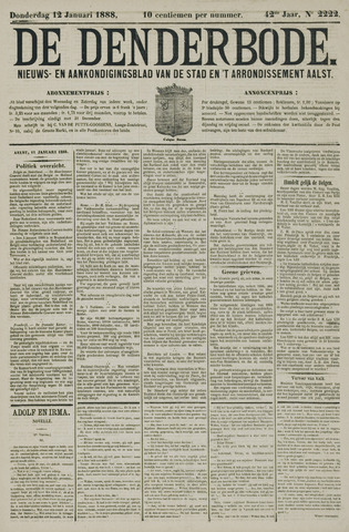 De Denderbode 1888-01-12