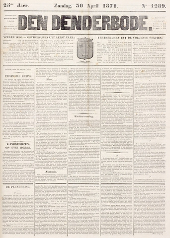 De Denderbode 1871-04-30