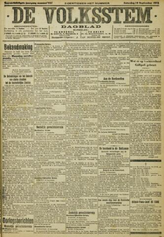 De Volksstem 1915-09-18