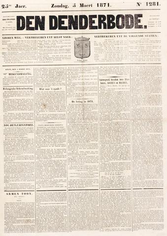 De Denderbode 1871-03-05