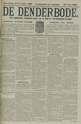 De Denderbode 1907-11-28