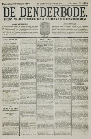 De Denderbode 1888-02-02
