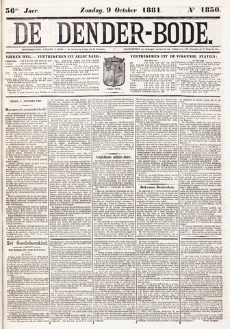 De Denderbode 1881-10-09