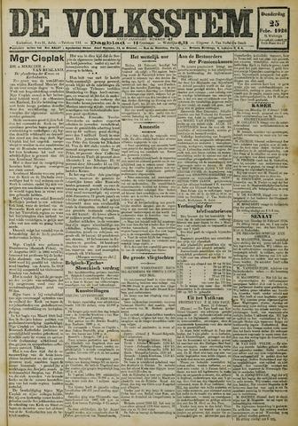 De Volksstem 1926-02-25