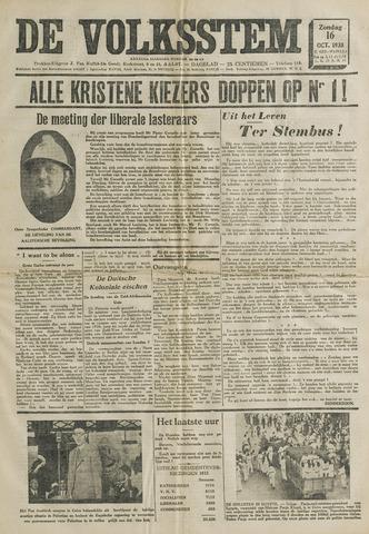 De Volksstem 1938-10-16