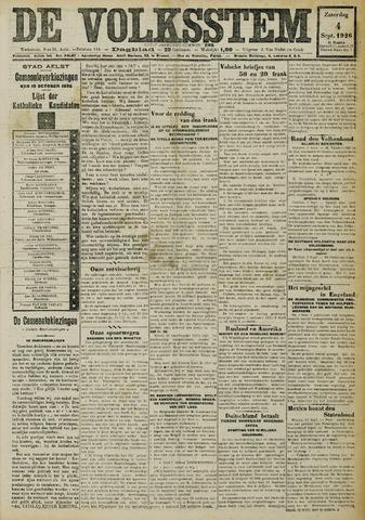 De Volksstem 1926-09-04