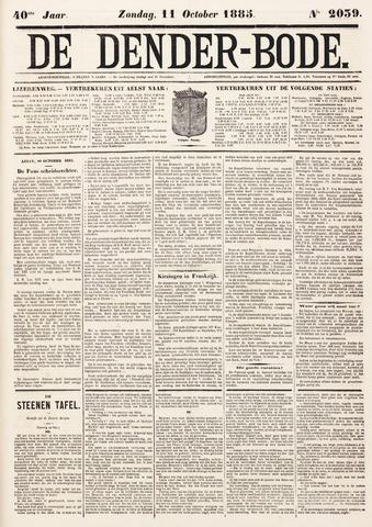 De Denderbode 1885-10-11
