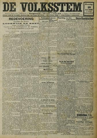 De Volksstem 1926-07-28