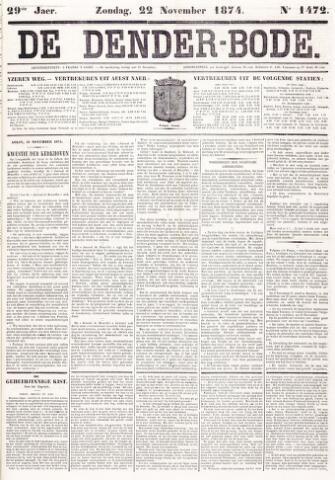 De Denderbode 1874-11-22