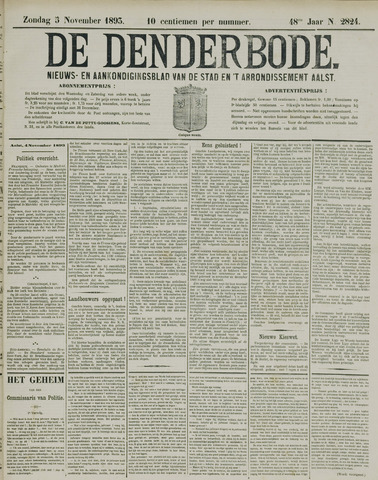 De Denderbode 1893-11-05