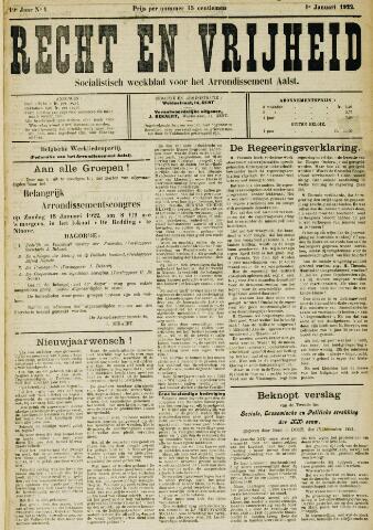 Recht en Vrijheid 1922