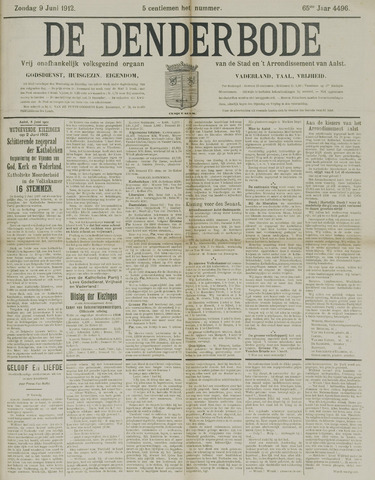De Denderbode 1912-06-09