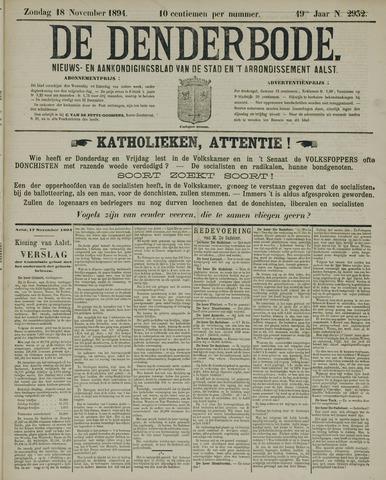 De Denderbode 1894-11-18