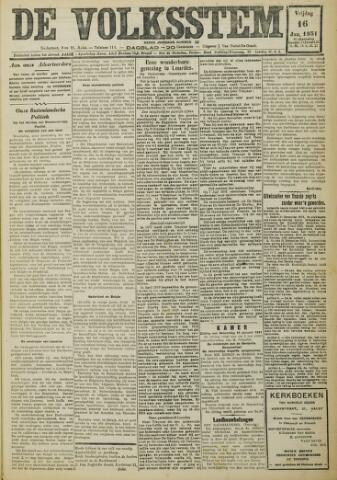 De Volksstem 1931-01-16
