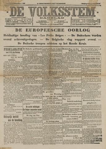 De Volksstem 1914-08-07
