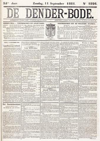 De Denderbode 1881-09-11