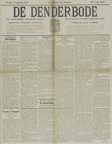 De Denderbode 1912-08-04