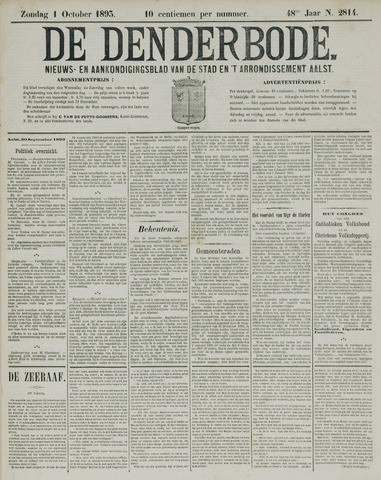 De Denderbode 1893-10-01