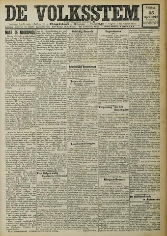 De Volksstem 1926-04-15