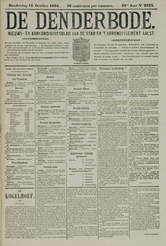 De Denderbode 1894-10-18