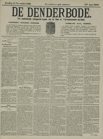 De Denderbode 1906-11-25